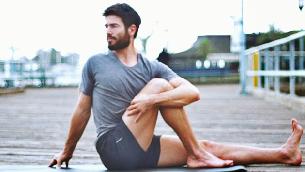 Men's morning yoga flow workout
